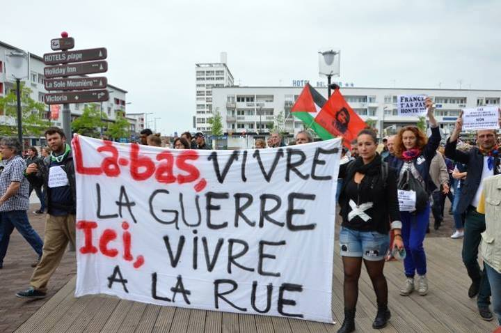 migrants calais-manifestation 12 07 2014