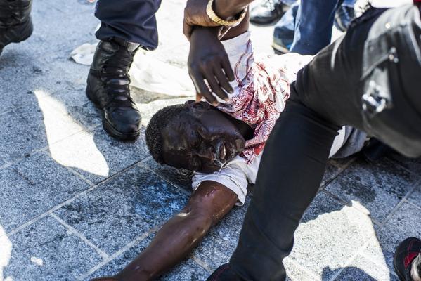 expulsion migrants et demandeurs d'asile de la Chapelle rue Pajol
