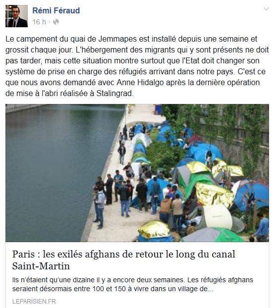 Rémi Féraud-Migrants-17 mai 2016