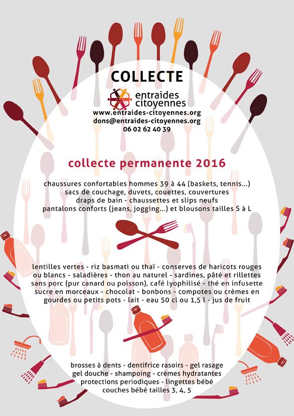 affiche collecte permanente 2016
