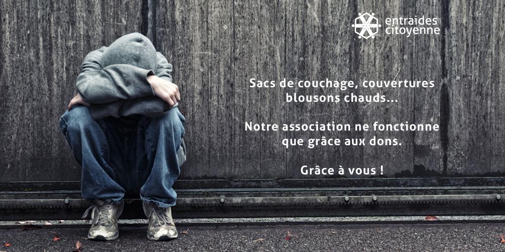 Entraides-Citoyennes dons pour sans-abris sdf